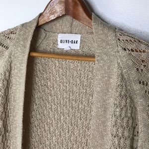 Olive + Oak long cardigan lightweight Sweater